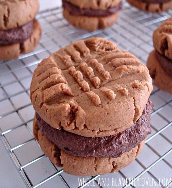 Peanut Butter Sandwiches With Chocolate Ganache Filling | Recipe