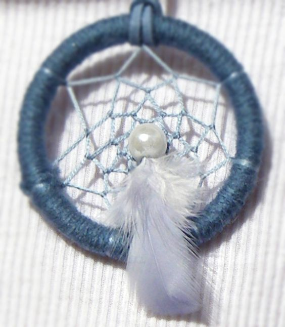 Necklace blue dreamcatcher