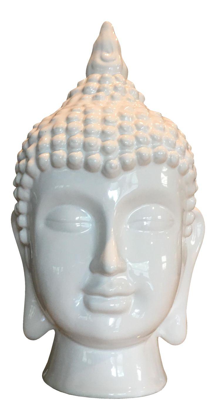 Ceramic Asian Buddha Head