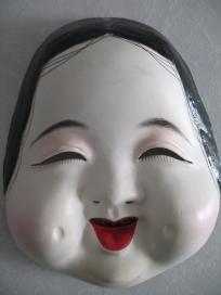 Funny Face Okame Japanese Mask