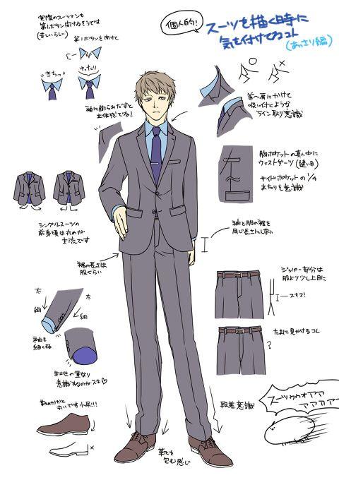 [pixiv] Tutorials about suits! - pixiv Spotlight