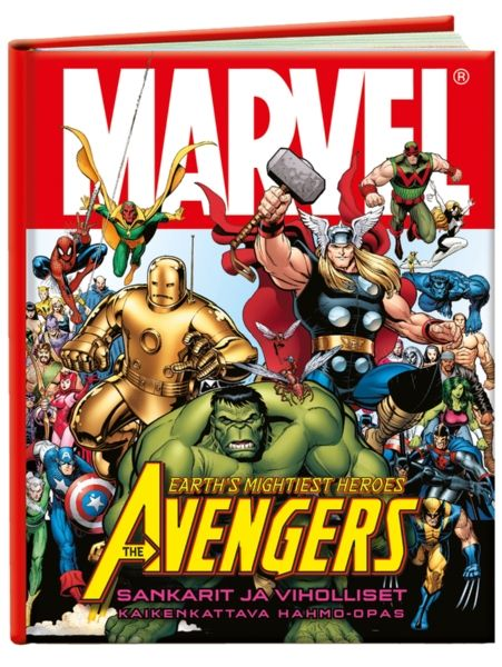 The Mighty Avengers, Sankarit ja viholliset – Kaikenkattava hahmo-opas esittelee kaikki Marvelin Kostajat perustajajäsenistä aina harvinaisempiin sankareihin asti, ja myös roistot tulevat tutuiksi. Sivun mittainen esittely kertoo jokaisesta hahmosta kaiken oleellisen. Mukana aakkostettu hakuosio.