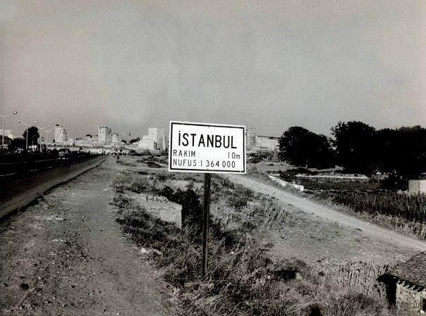 Cevizlibağ dan Topkapı ya bakış 1950 lerin başları