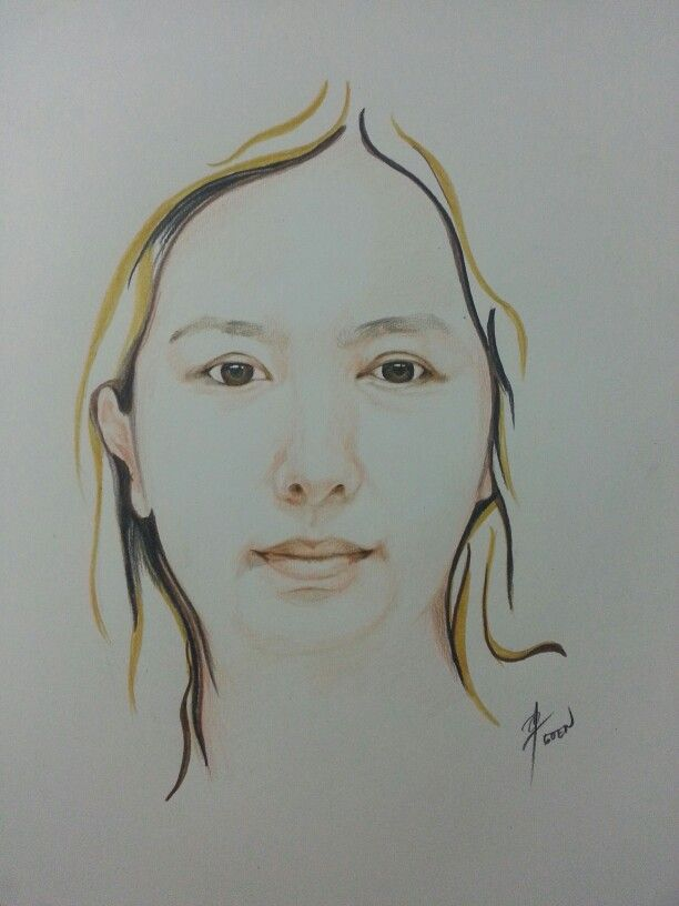 Simple drawing  . Fc classic colored pencils on paper