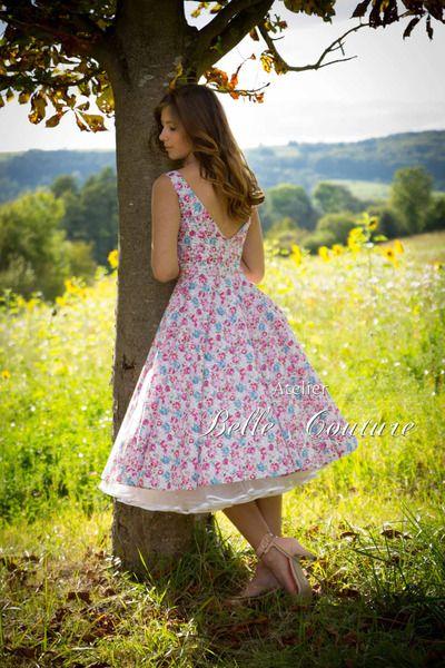 """romantisches Petticoatkleid """"Stella"""" von Atelier Belle Couture 50er Jahre Pettic ..."""