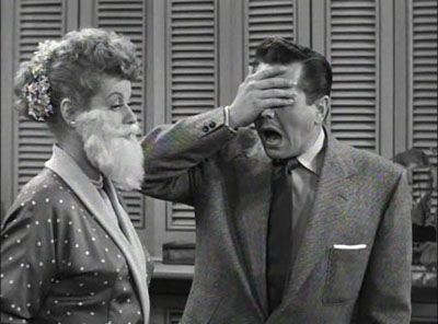 Image result for i love lucy beard stuck