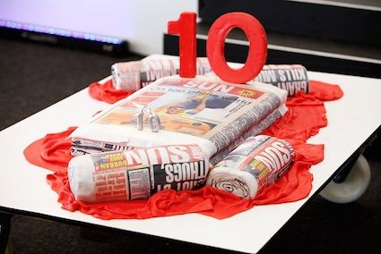 Daily Sun cake design by Annica's