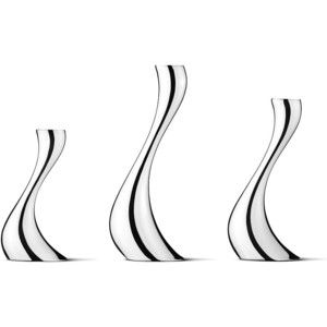 Georg Jensen Living Cobra Candleholder Set