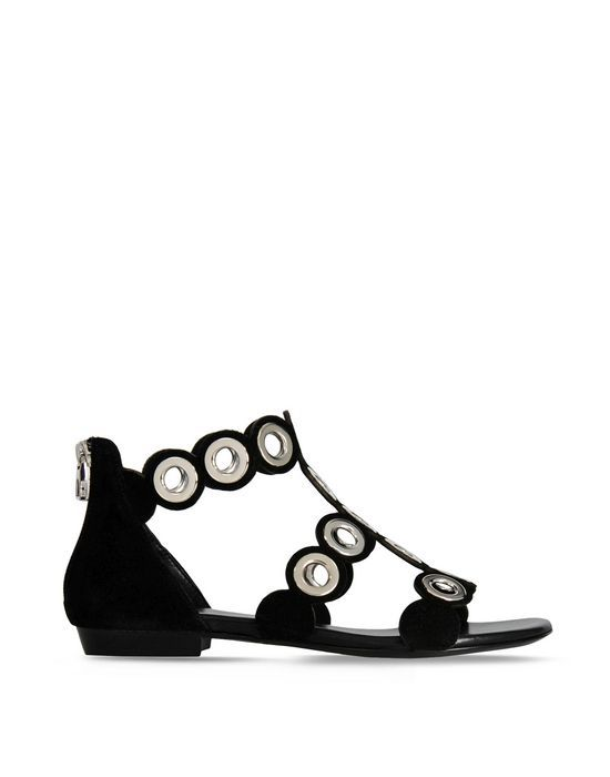 Barbara Bui Official Online Store - Suede eyelet sandals