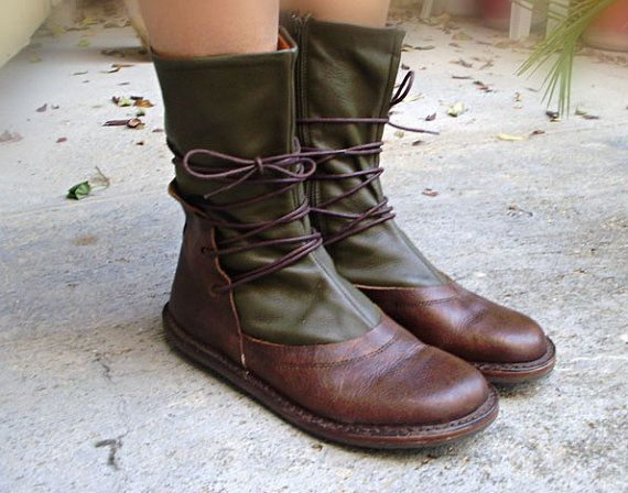 Leather Trippen boots shoes size US 9 EUR 40 UK 6.5 by oldinkblue