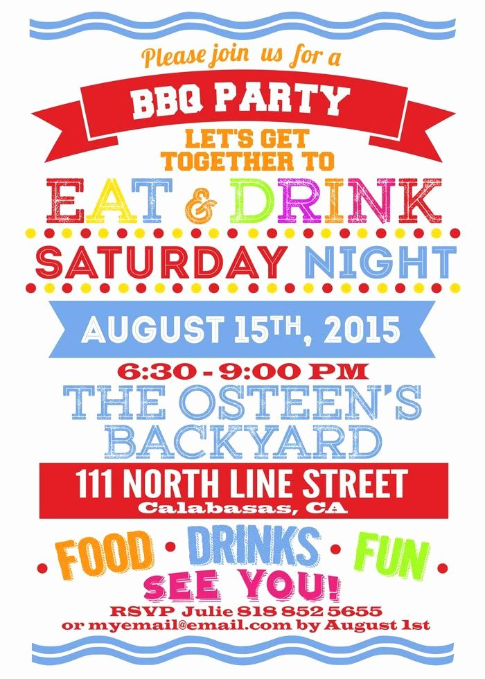 Summer Party Invitation Wording Inspirational Backyard Party Invitation In 2019 Bbq Party Invitations Summer Party Invitations Open House Party Invitations
