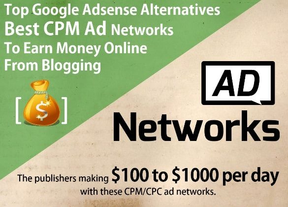Only High Paying GOOGLE ADSENSE ALTERNATIVES 2016 - Top display ad networks, best banner ad networks, best PPC/CPC Adsense Alternatives advertising networks, high CPM banner ads programs, contextual ad networks, high CPM rate publishers, fixed CPM ad network or for Indian publishers/for small websites/bloggers or small publishers with Indian traffic. Find the best way to advertise & earn revenue with your website or blog & learn how to get paid for blog monetization with every banner/ad…