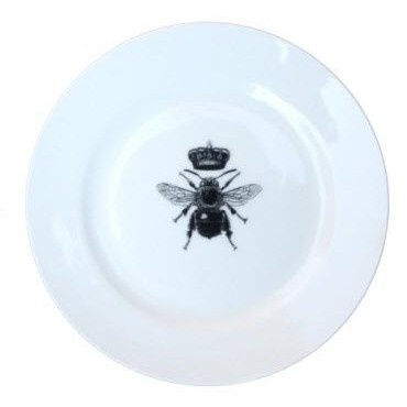 Napoleon Crown Plate - This charming plate is adorned with the imperial bee emblem of our new Napoleon range. Made in England.