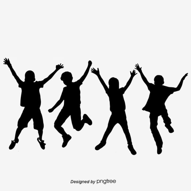 Hand Painted Happy Children Silhouettes Children Clipart Black And White Children Childrens Silhouette Png Transparent Clipart Image And Psd File For Free Do Silhouette Png Happy Kids Kids Clipart
