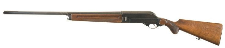 Walther 1921 Patent shotgun, 2nd variation    Manufactured earlier by Deutsche Werke A.G. in Erfurt, Germany c.1922-1923 then by Walther c.1923-1931 - serial number 2964.  12-gauge 5+1 round tubular magazine, toggle action semi-automatic, brass bead front sight.
