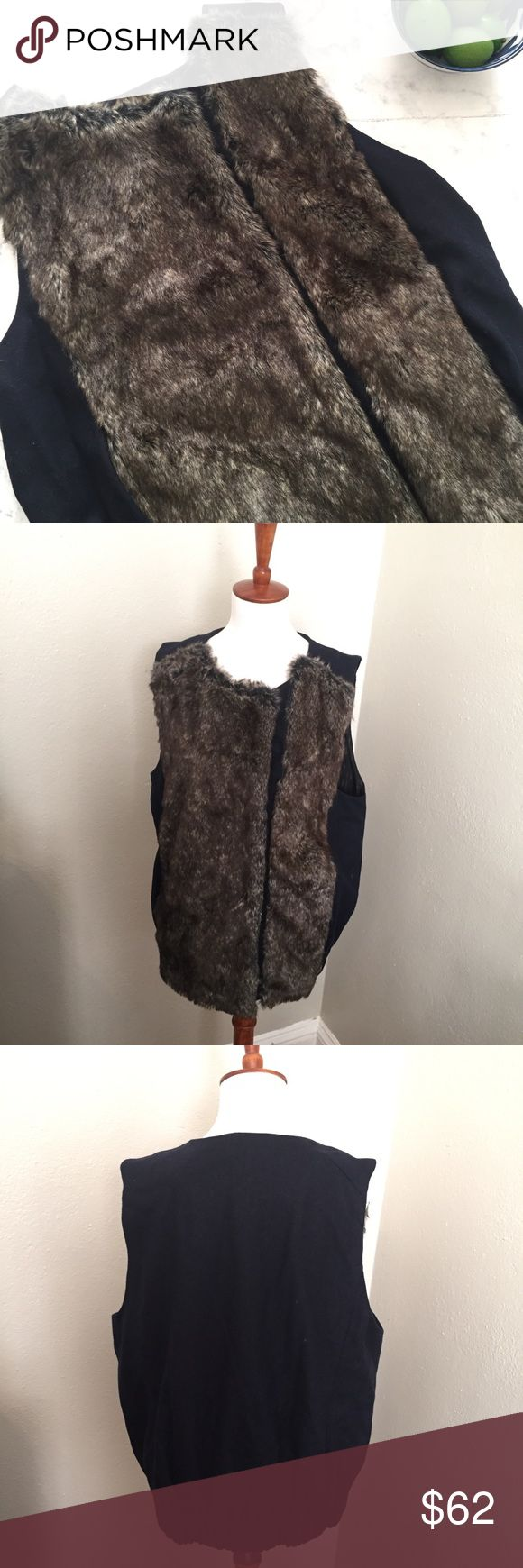 ANTHRO Elevenses Faux Fur Vest S SP Great condition; no defects. All measurements taken flat and unstretched. See photos for measurement details. Marked SP; modeled on size 2-4 mannequin. Bundle your likes and I'll send you an exclusive discount! No trades. Anthropologie Jackets & Coats Vests
