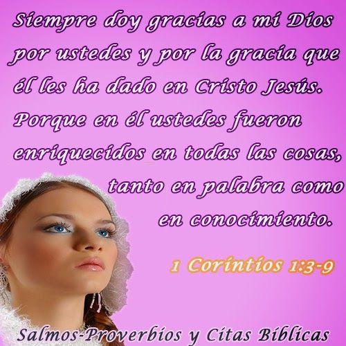 Salmos Proverbios y Citas Bíblicas: Acción de gracias por los dones espirituales(1 Cor...