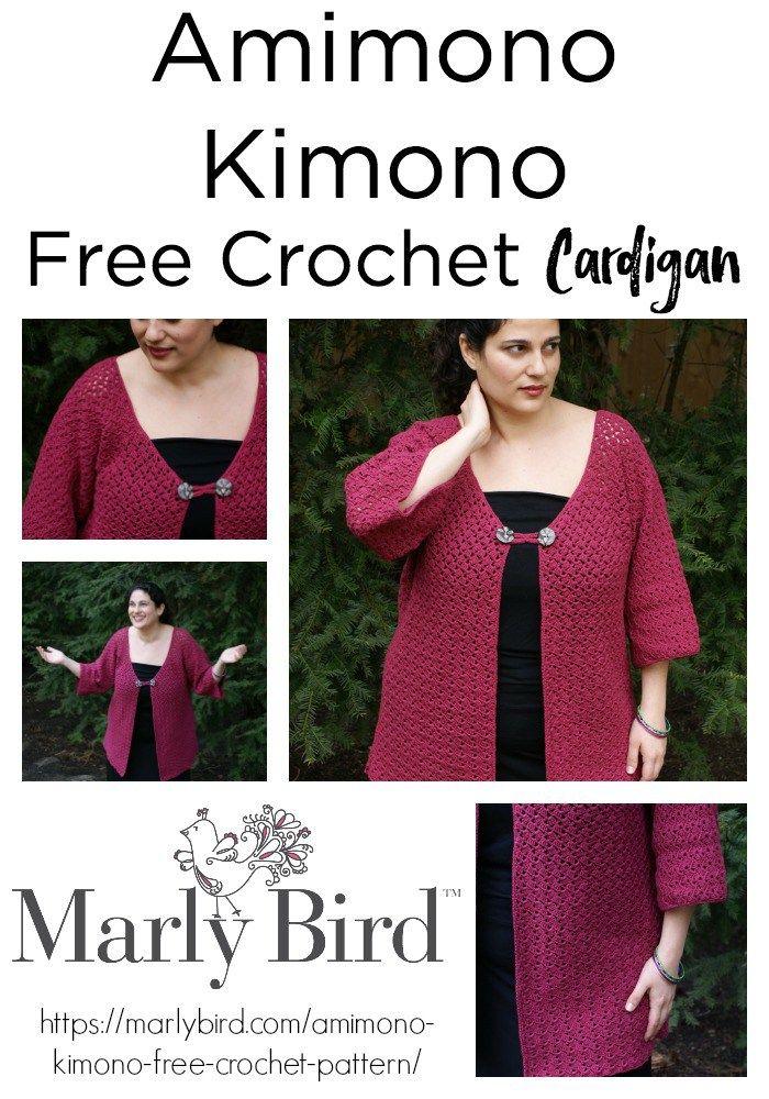 Amimono Kimono Free Crochet Pattern Crochet Sweaters Pinterest