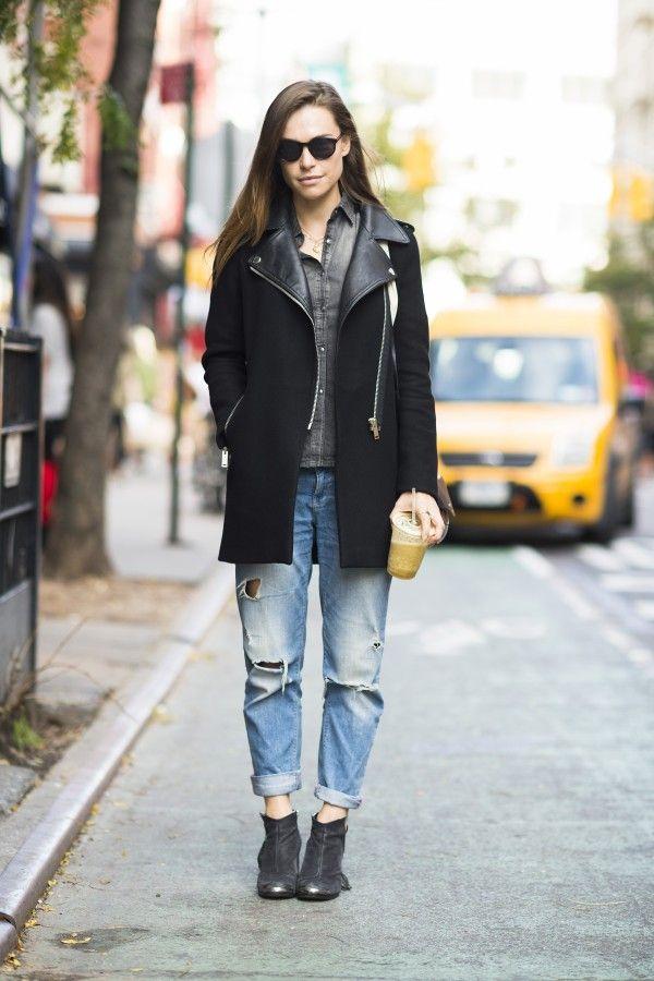 Как носить «джинсы бойфренда» этой осенью 9
