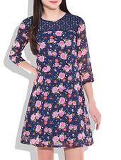 Multicolor Floral Print Short Dress - Online Shopping for Dresses