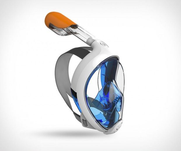 EasyBreath Snorkel Mask by Tribod. Easybreath is the first full-face snorkeling mask with a wide 180º view that makes breathing underwater as easy and natural as it is on land.