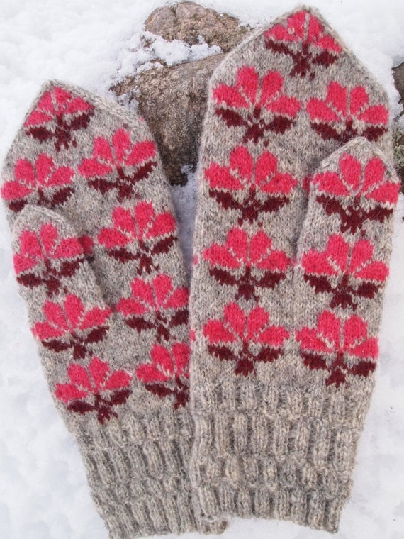 Finely Hand Knitted Seto Estonian Mittens in by NordicMittens, $68.00