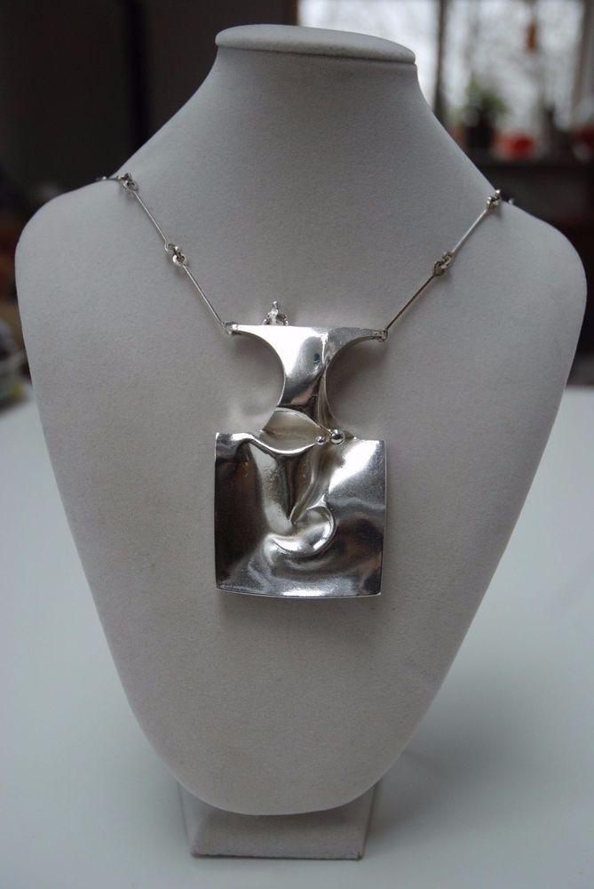 Vintage Lapponia Finland Bjorn Weckstrom necklace Barbarella sterling silver