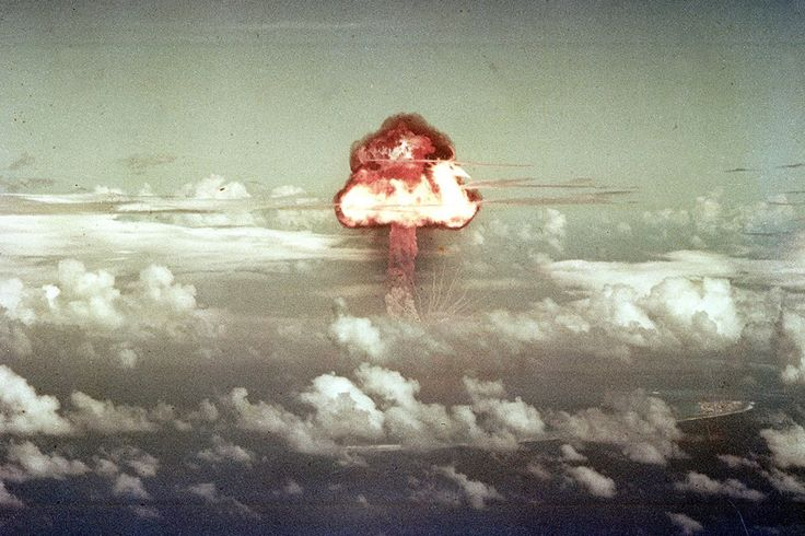 On November 16, 1952, a B-36H bomber dropped a nuclear bomb over a point north of Runit Island in the Enewetak atoll, resulting in a 500 kiloton explosion -- part of a test code-named Ivy. (U.S. Department of Defense)