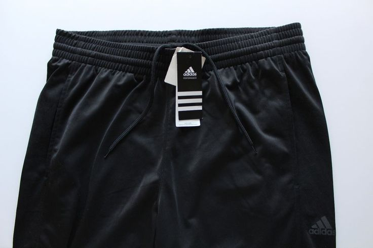 NWT Men's Adidas Performance Climalite Black Athletic Pants | Size Large #adidas #Pants