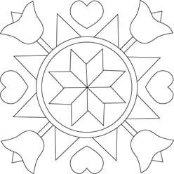 pennsylvania dutch hex sign coloring pages - photo #24