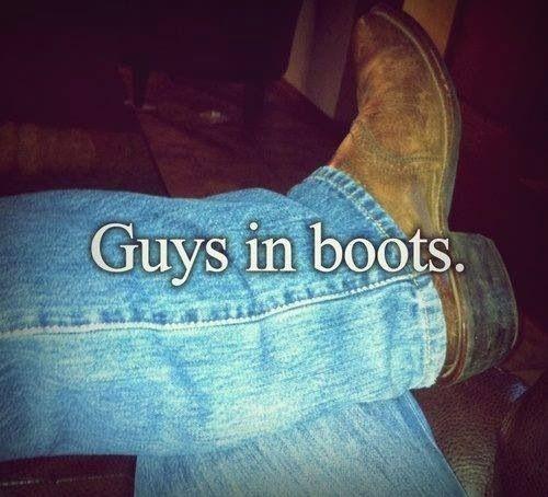Hmmm love guys in boots