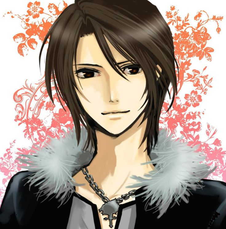 anime guy with dark hair | Anime Guy, Brown Hair and Grey ...