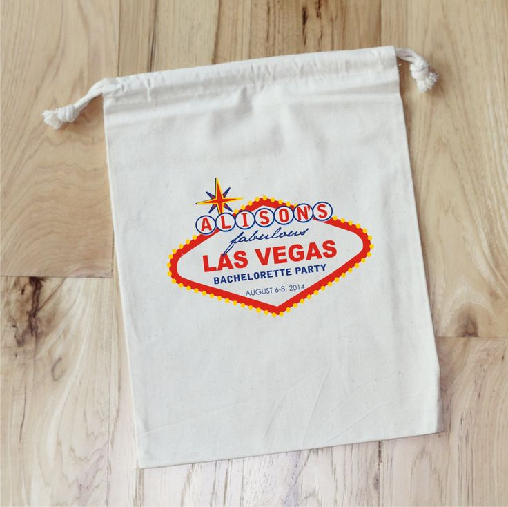 LAS VEGAS - Personalized Favor Bags - Bachelorette Party - Wedding Party - Set of 10 by foryourlittlemonkey on Etsy https://www.etsy.com/listing/187457105/las-vegas-personalized-favor-bags