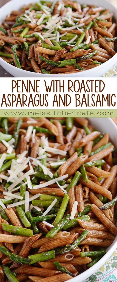 This penne with roasted asparagus and balsamic butter is incredibly delicious and so simple; it's a must-make for asparagus season!