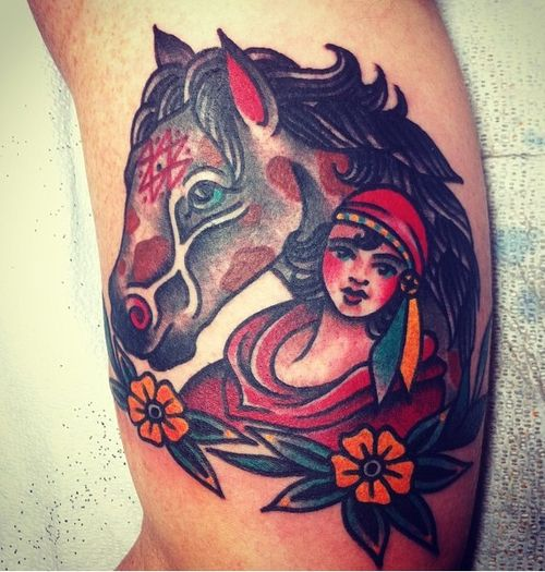 17 best ideas about traditional gypsy tattoos on pinterest for Horse tattoo traditional