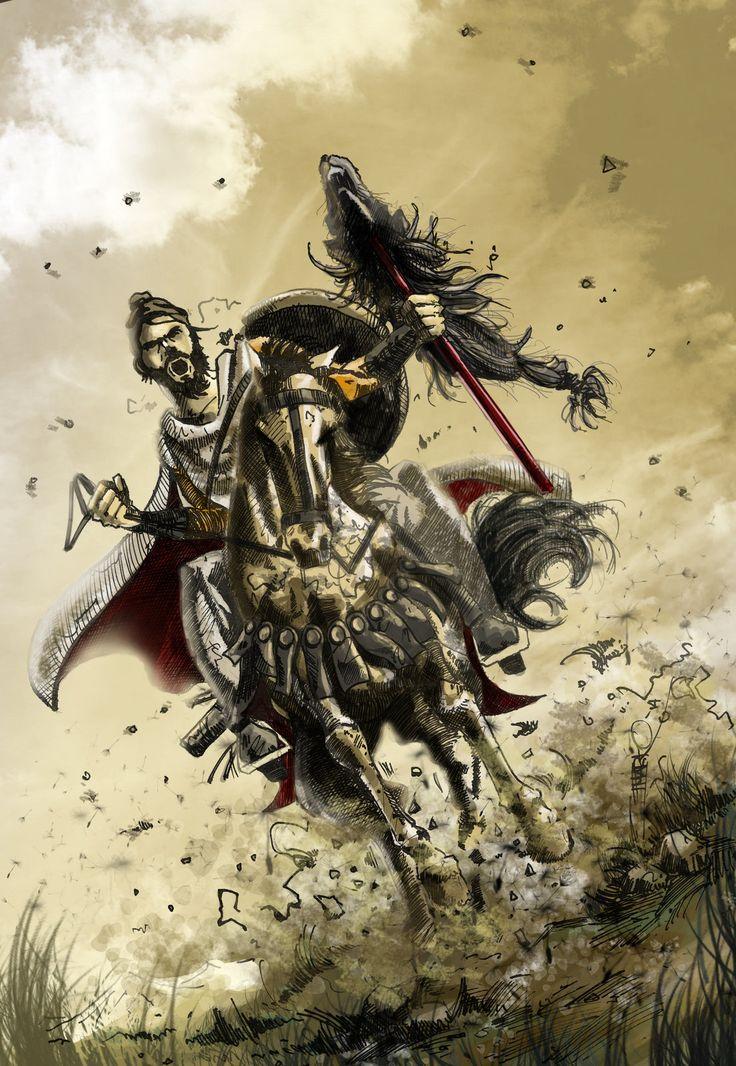 Dacian rider, Marko Pudar on ArtStation at http://www.artstation.com/artwork/dacian-rider