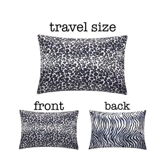 Black & White Leopard Travel Pillow Designer Travel by SatinSwank