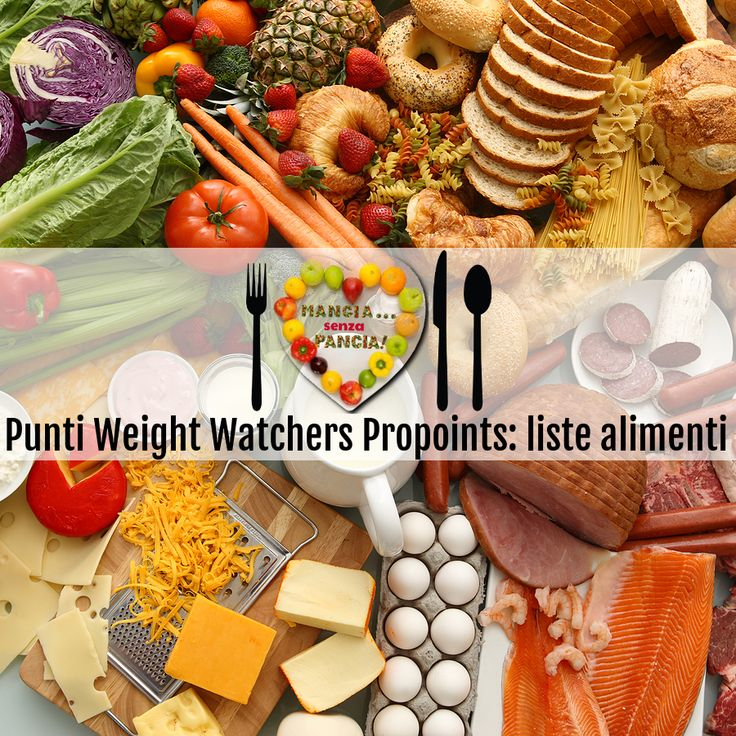 Punti Weight Watchers Propoints: liste alimenti