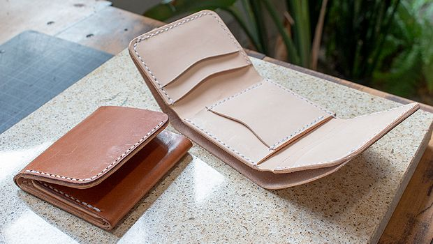Making A Leather Tri Fold Wallet Free Pdf Template Set Makesupply Leather Wallet Pattern Leather Card Wallet Pattern Diy Leather Wallet