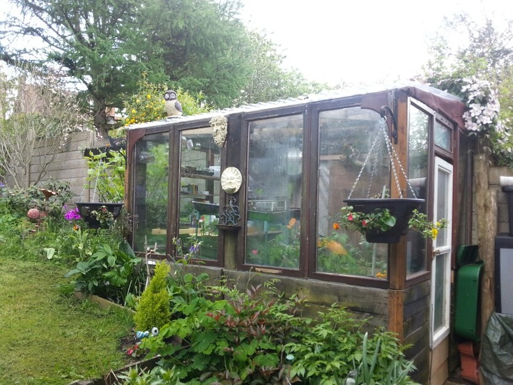 Homemade Greenhouse Made From Pallets And Old Double