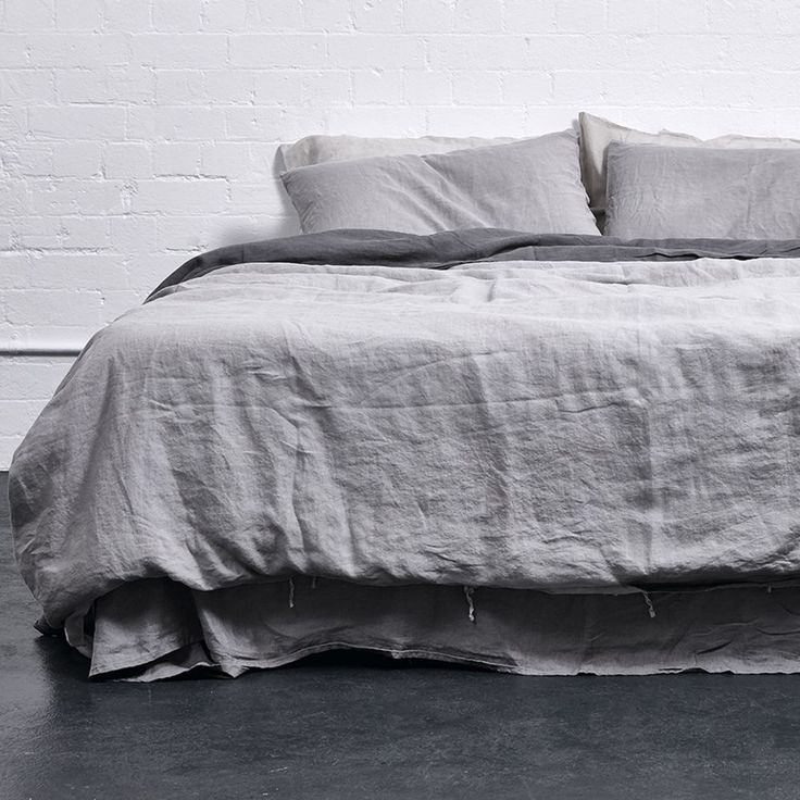 Grey Duvet Cover - 100% Linen Cover in Cool Grey - IN BED Store