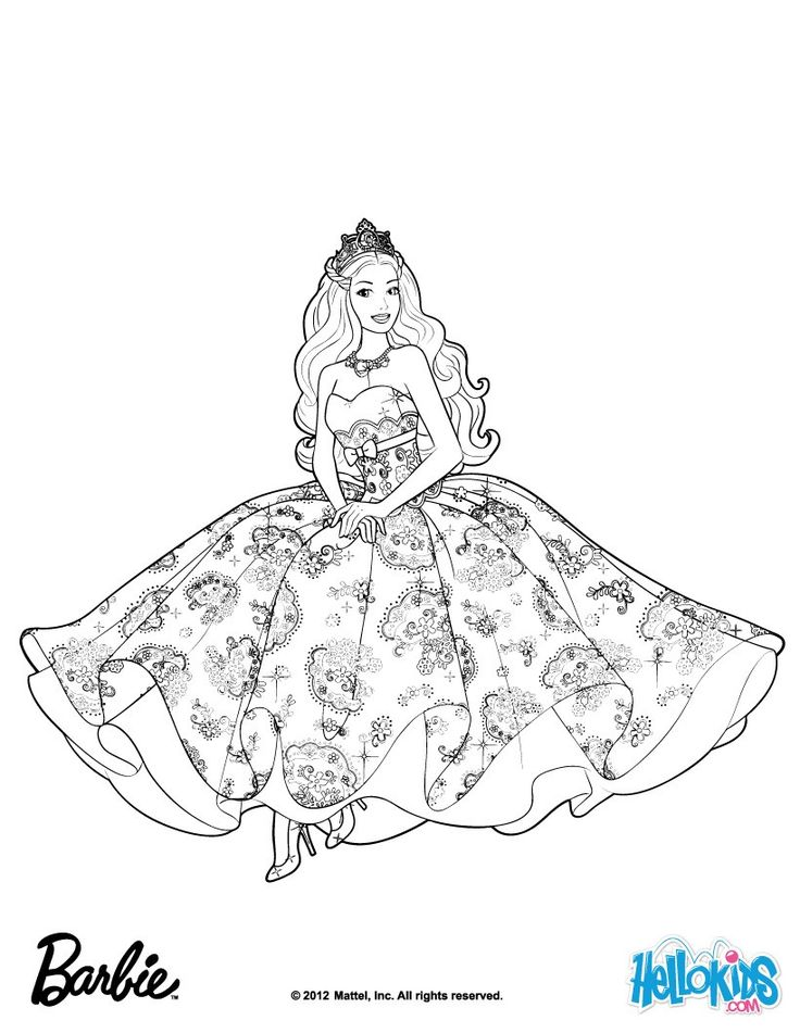 Barbie The Princess And Popstar Coloring Pages