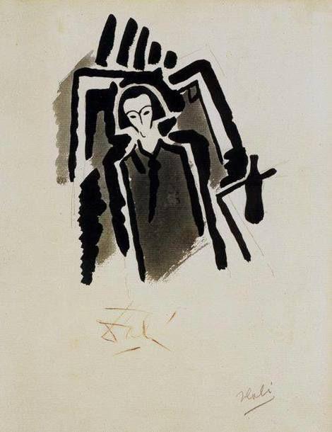 Salvador Dalí, Self-Portrait, 1923 on ArtStack #salvador-dali-1 #art