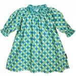 SMOCKED CHECK & CLOVER DRESS (CHILD)