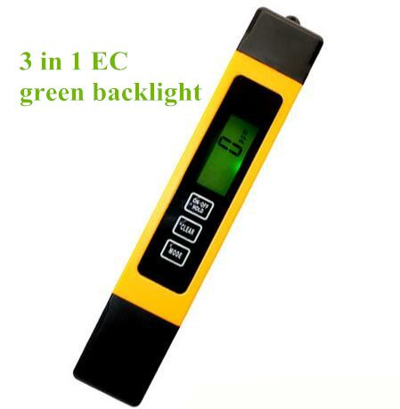 TDS  EC meter Temperature Tester pen  water measurement tool 3 in 1 Function , 0-9999, High Quality 6%off