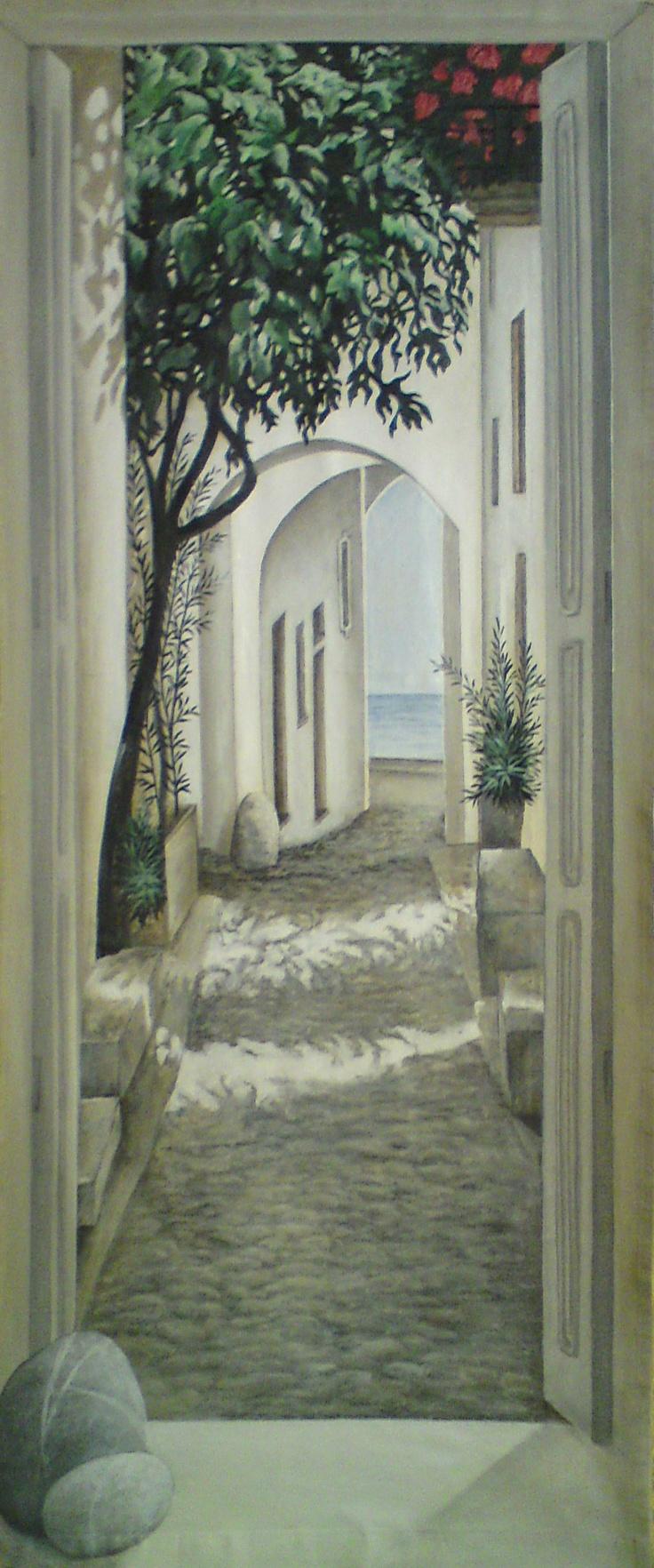 rue sud est de la france ~ painted wall mural