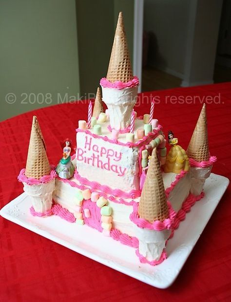 loaf pan castle cakes for kids | ... edmonton photo and food blog: princess castle decadent chocolate cake