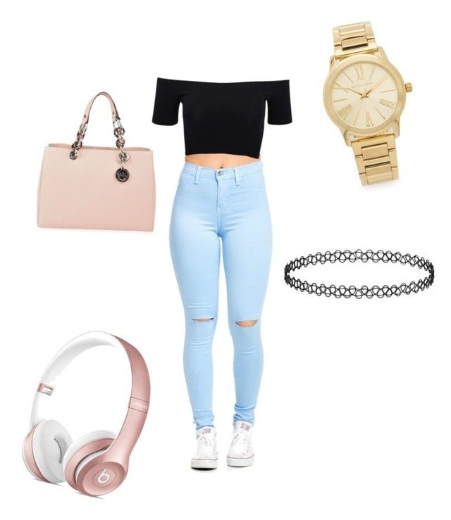 """""""Untitled #29"""" by yazzylovexoxo on Polyvore featuring American Apparel, Michael Kors, MICHAEL Michael Kors, women's clothing, women, female, woman, misses and juniors"""