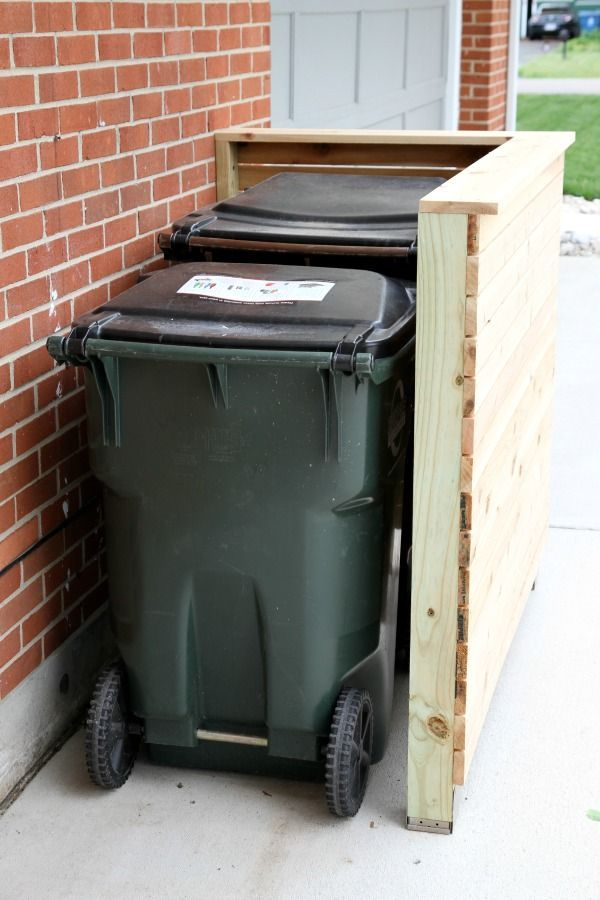 Diy Trash Enclosure I M Thinking Adding A Gate And Top Would Be
