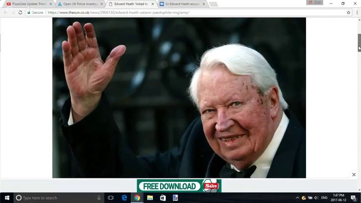 PizzaGate Update: Prime Minister Ted Heath Tied to Satanic Murder Ring?